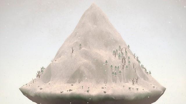 The foggy, imposing mountain of Mountain