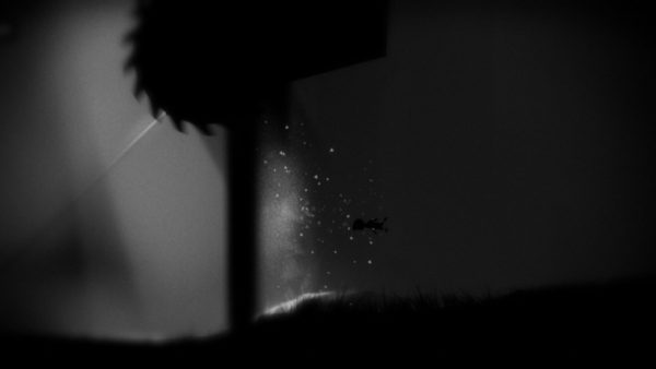 Limbo protagonist avoiding traps while swimming underwater